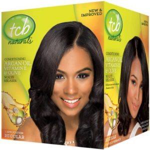 2 Pack – TCB Naturals Olive Oil No Lye Relaxer Kit, Regular 1 ea