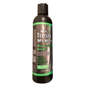 Africas Best Organics Mens Texture My Way Wave-N-Curl Keeper Moisturizing Hair Lotion, 8 Oz, 6 Pack
