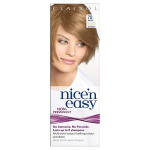 Clairol Nice n Easy Hair Color #70 Beige Blonde, UK Loving Care + Makeup Blender Stick, 12 Pcs