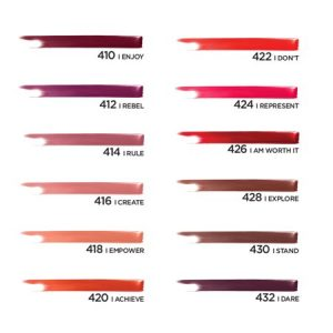L'Oreal Paris Rouge Signature Matte High Pigment, Lightweight Lip Ink, I Stand1