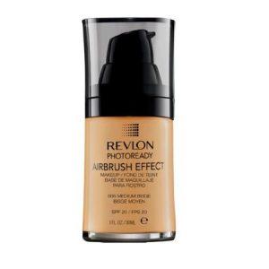 Revlon Photoready Airbrush Effect Makeup Foundation Medium Beige #006 + Makeup Blender Stick, 12 Pcs
