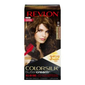 Revlon colorsilk buttercream hair color, 53 medium golden brown