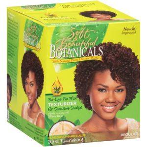 Soft & Beautiful Botanicals Regular No-Lye No Mix Texturizer for Sensitive Scalps Box