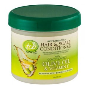 TCB Naturals Hair And Scalp Conditioner, Olive Oil And Vitamin-E, 10 Oz