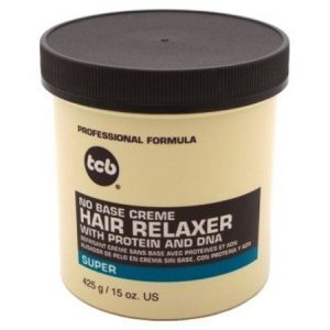 TCB No Base Creme Hair Relaxer with Protein and DNA Super 15.oz